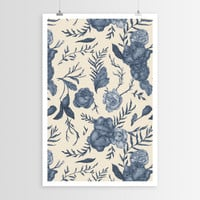 Jessica Roux's Blue Floral Pattern POSTER