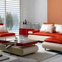 Divani Casa B205 - Modern Leather Sectional Sofa Set