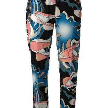 ESBONJF MM6 By Maison Martin Margiela abstract print trousers