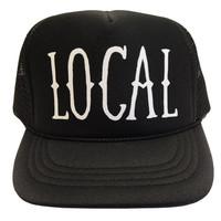Tiny Whales Local Trucker Hat Black