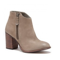 Sole Society Riley Stacked Heel Leather Bootie