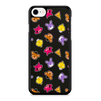 Fnaf Freddy S Faces Pattern Cute Kawaii Chibi iPhone 8 Case