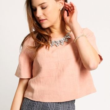 Beaumont Square Jeweled Blouse