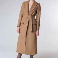 Camel Coat Beige Coat  Spring Women Coat Wool Coat Nude Coat Trendy Coat Long Coat Classy Coat Beige Outwear