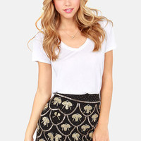 Drop a Bombshell Black Sequin Skirt