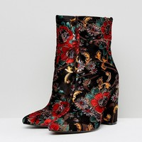 Public Desire Clayton Embroidered Heeled Ankle Boots at asos.com