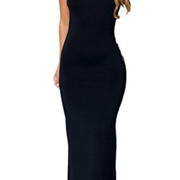 Chase Secret Womens Sleeveless Hollowed Back Maxi Long Jersey Dress