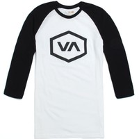 RVCA VA Hex Raglan T-Shirt - Mens Tee - Black