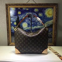 LV Louis Vuitton MONOGRAM LEATHER ESTRELA HANDBAG