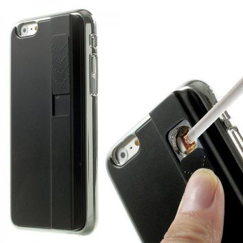 Fire / Lighter Case For Apple iPhone  (Black)
