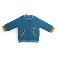 Zacari Quilted Zip Up Sweatshirt Cardigan by Moulin Roty