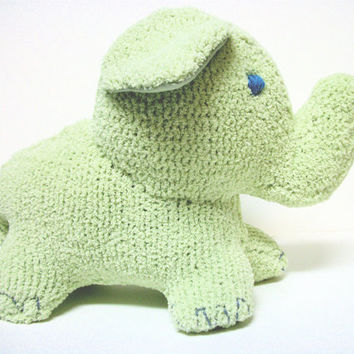 Elephant Plush Ecofriendly Sakari by RopeSwingStudio on Etsy