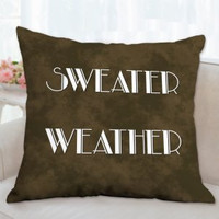 Fall Pillow Sweater Weather, Fall pillow, Autumn Pillow, Throw Pillows, Floor Pillows, Custom pillows, Living Room Pillow, Couch Sofa Pillow