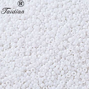 Japanese glass beads 2.0MM  First Nation Bead work  Round Shape seed beads 50 grams/lot AM TAIDAIN/about 95PCS/1gram