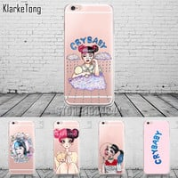 Cry Baby Melanie Martinez Phone Case For iPhone 5 5S SE 6 6S 6Plus 7 7Plus Transparent Silicone Back Cover Coque Capa Capinha
