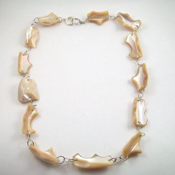 Mother of Pearl Link Necklace