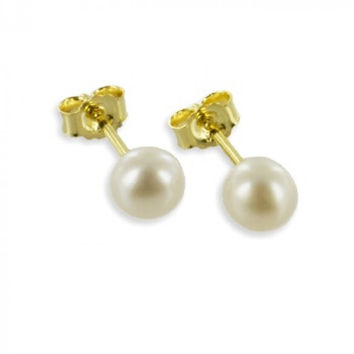 Pearl Studs (8ct yellow gold/5.0mm/0.70grams)