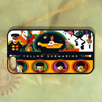 The Beatles Yellow submarin  - iPhone 5 case, iphone 4s case, iphone 4, Samsung Galaxy S3-Silicone Rubber or Hard Plastic Case, Phone cover