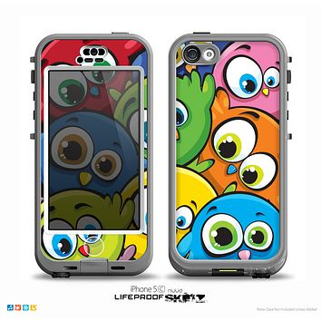 The Big-Eyed Highlighted Cartoon Birds Skin for the iPhone 5c nüüd LifeProof Case