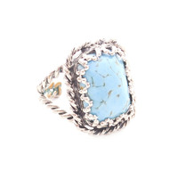 Adjustable Turquoise Rope Ring