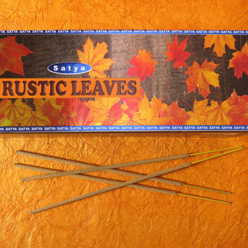 incense sticks Rustic leaves fine fragrances Original, By Satya Brand WORLD'S FAMOUS , Hand rolled Ready to ship from India. export quality!