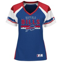 Majestic Buffalo Bills Draft Me Fashion Top - Women's, Size: