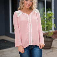Fall In Love With Me Top, Blush