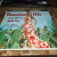 Vintage Vinyl Record Hawaiian Hits Romantic and Popular Songs of the South Seas starring Kamuela Record 1958