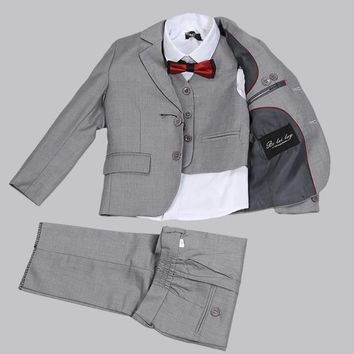 Formal Boys Wedding Outfits Boys Dress Up Clothes Communion Suits
