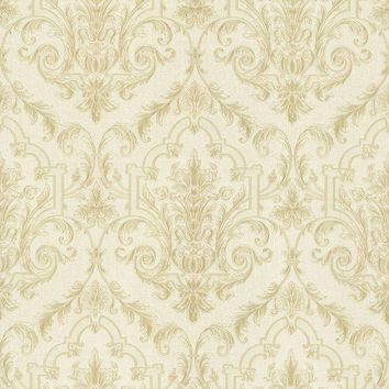 Brewster Wallpaper 987-56568 Consuela Pearl Damask