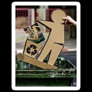 """Recycling"" Stickers by Revital Naumovsky 