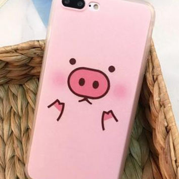 Cute Pig phone case for iphone 7 7 plus 5 5s SE 6 6s 6plus 6s plus + Nice gift box! -LJ-005