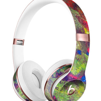 Green and Red Wet Oil Paint Canvas Full-Body Skin Kit for the Beats by Dre Solo 3 Wireless Headphones