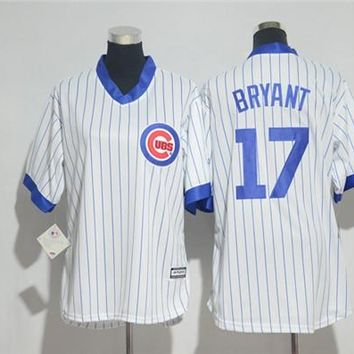 Women's Chicago Cubs #17 Kris Bryant Cooperstown Cool Base Player Jersey