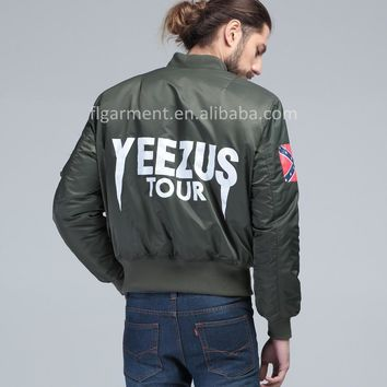 Dmart7dealPLUS SIZE KANYE WEST YEEZUS tour pilot varsity military army yeezy flight ai