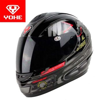 2017 Winter New YOHE cross-country Full face motorcycle helmet YH993 ABS Motorbike helmets with scarf warm size M L XL XXL