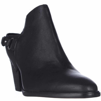 Dolce Vita Hanya Mule Bootie Heels - Black Leather
