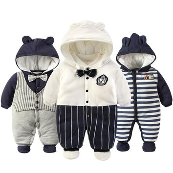 Baby Clothes And Pure Cotton Winter  Climb Clothes Sweet Cute Cartoon Baby Romper Coat   Newborn Baby Boys Girls  Clothes