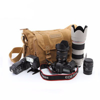 Professional Canvas DSLR Camera Travel Bag * Canon, Sony, Nikon, and Olympus Compatible