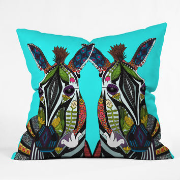 Sharon Turner zebra love Throw Pillow