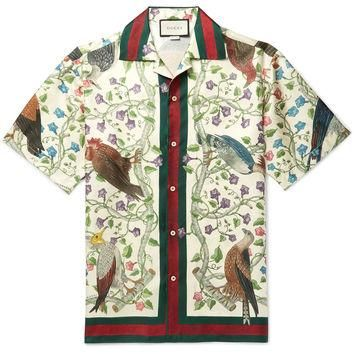 Gucci - Camp-Collar Printed Silk Shirt