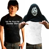 Ask About My Zombie Shirt T-Shirt #17 / #1337 (Mens Large)
