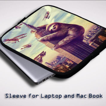 cool sloth wallpaper Y0426 Sleeve for Laptop, Macbook Pro, Macbook Air (Twin Sides)