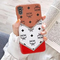 MCM Newest Popular Print Mobile Phone Cover Case For iphone 6 6s 6plus 6s-plus 7 7plus 8 8plus X XsMax XR