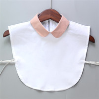 Women apparel accessories Peter Pan Collar Detachable bib collar  round collar cotton button up shirt