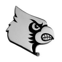 Louisville Cardinals NCAA Chrome Car Emblem (2.3in x 3.7in)