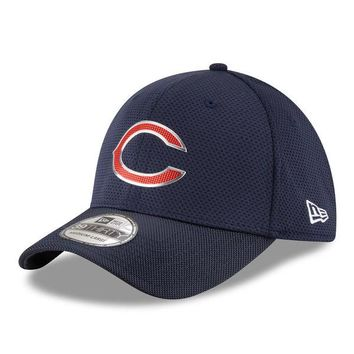 Men's Chicago Bears New Era Navy Color Rush On Field 39THIRTY Flex Hat