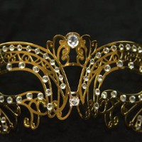 Sexy Venetian Laser Cut Gold Masquerade Party Mask Sparkle by Kayso International