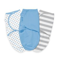 Summer Infant® SwaddleMe® Small/Medium 3-Pack Adjustable Blankets in Stars and Stripes