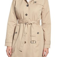 MICHAEL Michael Kors Core Trench Coat with Removable Hood & Liner (Regular & Petite) | Nordstrom